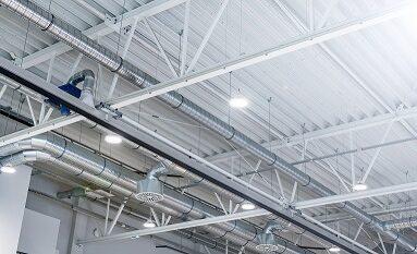 hala magazynowa- nowoczesne oświetlenie ledowe